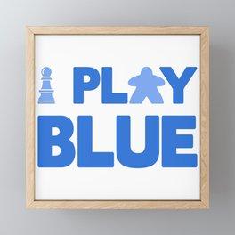 Show Your Game Color - Blue Framed Mini Art Print