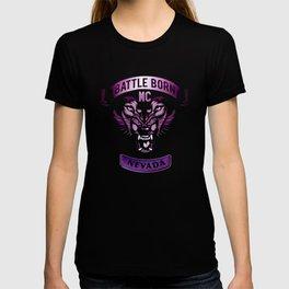 Battle Born MC- Purple Wolf Logo T-shirt