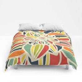 Vintage flower close up Comforters
