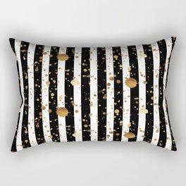 Stripes & Gold Splatter Rectangular Pillow