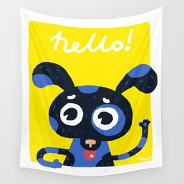 Hello! Wall Tapestry