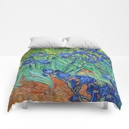Vincent Van Gogh Irises Painting Comforters