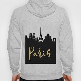 PARIS FRANCE DESIGNER SILHOUETTE SKYLINE ART Hoody