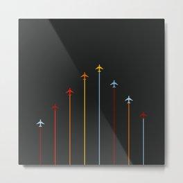 Retro Airplanes 07 Metal Print