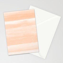 Soft Orange Watercolor Abstract Minimalism #1 #minimal #painting #decor #art #society6 Stationery Cards