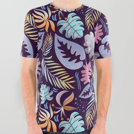 Tropical Twilight All Over Graphic Tee