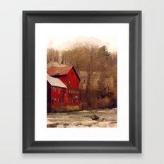 Old Red Mill Framed Art Print