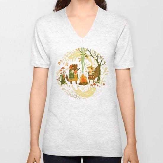 Animal Chants & Forest Whispers Unisex V-Neck
