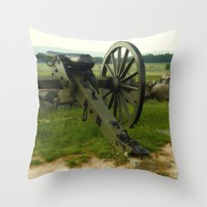 Cannon Of The Past Throw Pillow