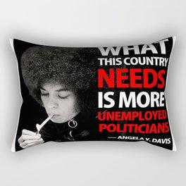 ANGELA DAVIS - Unemployed Politician Rectangular Pillow