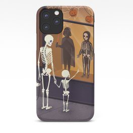 Skeletons at Halloween iPhone Case