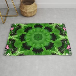 Fern and friends kaleidoscope, mandala - Maidenhair, Adiantum 900 kal 16 Rug