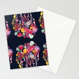 Midnight Blue Botanical Stationery Cards