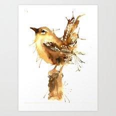 Mr Wren Art Print