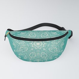 Teal and Lace Mandala Fanny Pack