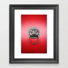 The red door Framed Art Print
