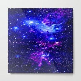 Fox Fur Nebula Galaxy blue purple Metal Print