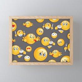 Emoji Pattern 5 Framed Mini Art Print