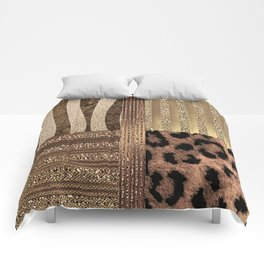 Gold Lioness Safari Chic Comforters