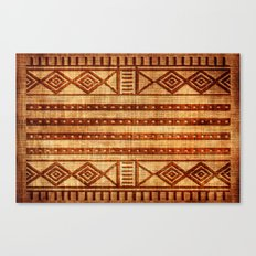 Embossed African Pattern Canvas Print