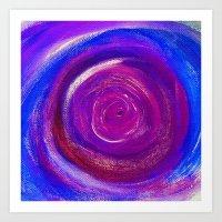 Purple Cyclone Art Print