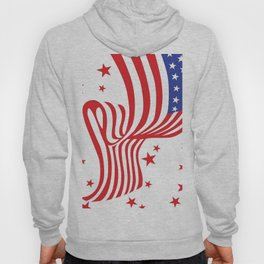 AMERICAN FLAG  & RED STARS JULY 4TH ART Hoody