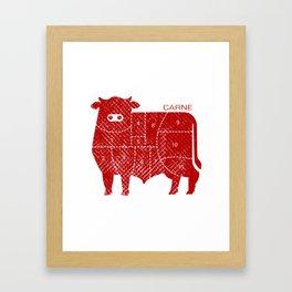 carne Framed Art Print