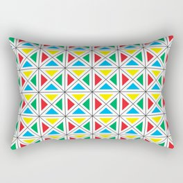Texture X - Primary colors. Rectangular Pillow