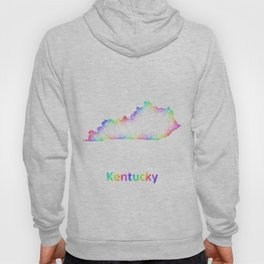 Rainbow Kentucky map Hoody