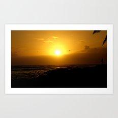 Hawaii Sunset Series A Art Print