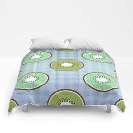 Kiwi summer fruit Comforters