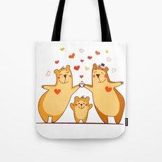 Family of bears Tote Bag