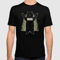 Bear Hug? (dark version) Black LARGE Mens Fitted Tee