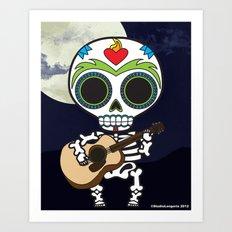 Muertos Musician Art Print