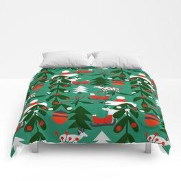 Christmas evergreens Comforters