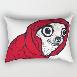 Chihuahua Red Hoodie Rectangular Pillow