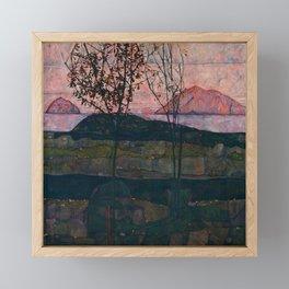 "Egon Schiele ""Setting Sun"" Framed Mini Art Print"