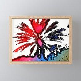 Fiery Palm Framed Mini Art Print