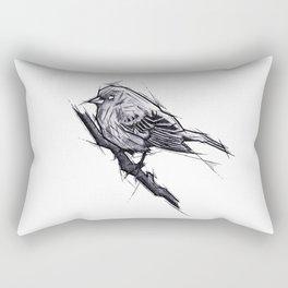 Bird Handmade Drawing, Art Sketch, Uccellino, Illustration Rectangular Pillow