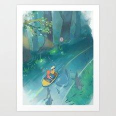 Ponyo and Sosuke Art Print