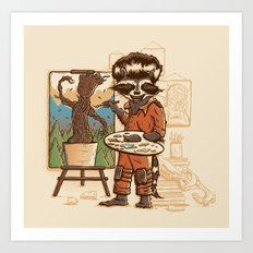 Happy Little Groots Art Print