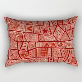 ESHE red mono Rectangular Pillow