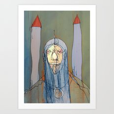 Daniel Rocket Moon Art Print