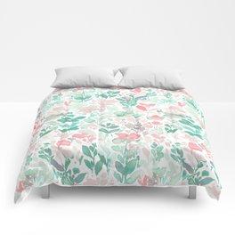 Flirt Mint Blush Comforters