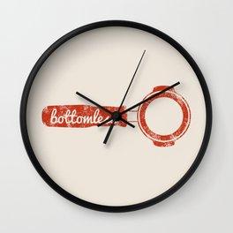 Bottomless Portafilter // Barista Espresso Machine Coffee Shop Humor Graphic Design Wall Clock