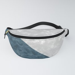 Gray , blue marble Fanny Pack