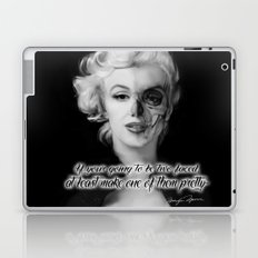 Two Face. Marilyn Quote Laptop & iPad Skin