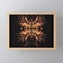 Light Explosion Framed Mini Art Print