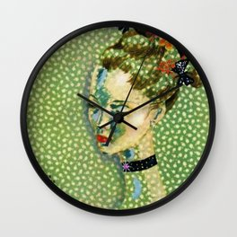 19315 Vintage Art Deco Flapper Jazz Age Young Woman Magazine Cover by Eduardo Garcia Benito Wall Clock