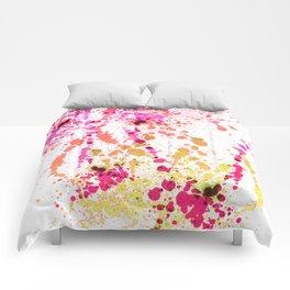 Uplifting Heat - Abstract Splatter Style Comforters